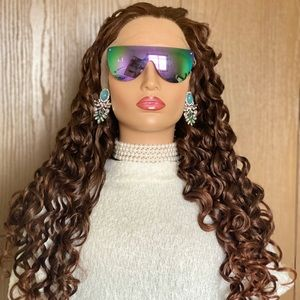 Swiss Lace Front wig Human Hair Blend